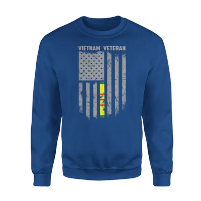 Vietnam veteran proud american flag gift for dad father brother grandpa who is a - Standard Fleece Sweatshirt - S / Royal