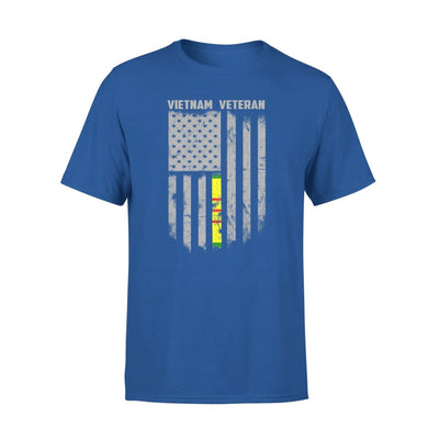 Vietnam veteran proud american flag gift for dad father brother grandpa who is a - Standard Tee - S / Royal