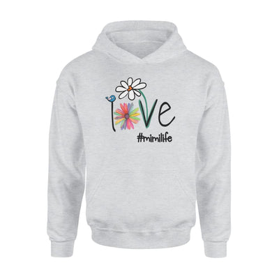 Woman Mom Love Mimi life #mimilife Heart Floral Gift - Standard Hoodie - S / Grey