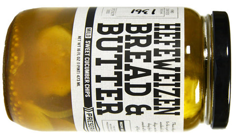 Hefeweizen Bread & Butter Pickles made by Preservation & Co.