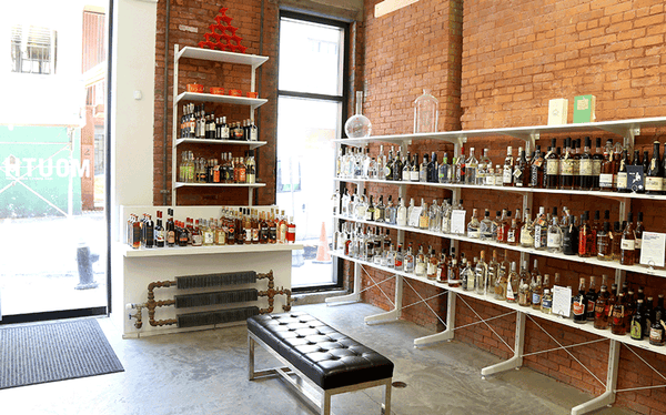 We have over 300 bottles of spirits and wine at our MOUTH gallery.