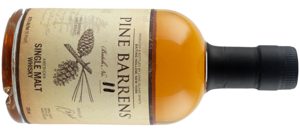 Pine Barrens Single Malt Whiskey made by Long Island Spirits