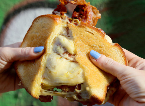 Grilled Cheese with Bacon and Onion Confit