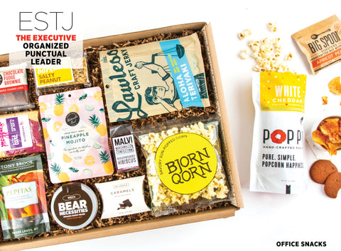Office Snacks Gift Box - Best Valentine's Day gift for Myers-Briggs Type ESTJ