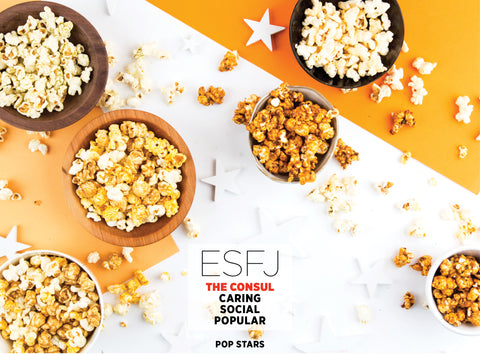 Pop Stars Popcorn Gift Set - Best Valentine's Day gift for Myers-Briggs Type ESFJ