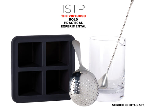 Stirred Cocktail Set Gift - Best Valentine's Day gift for Myers-Briggs Type ISTP