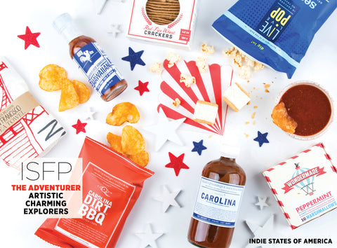 Indie States of America Monthly Food Subscription Box - Best Valentine's Day gift for Myers-Briggs Type ISFP