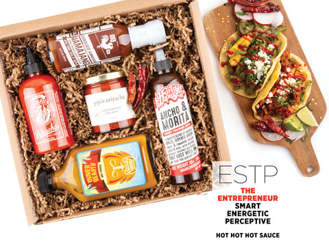 Hot Hot Hot Sauce Gift Set - Best Valentine's Day gift for Myers-Briggs Type ESTP