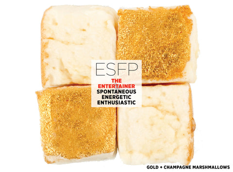 Gold + Champagne Marshmallows - Best Valentine's Day gift for Myers-Briggs Type ESFP
