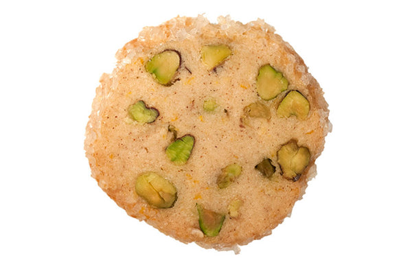 Mouth-Made Orange Pistachio Shortbread Cookies