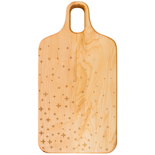 Plus-Patterned Maple Cutting Board