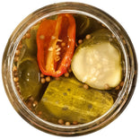 spicy habanero cucumber pickles