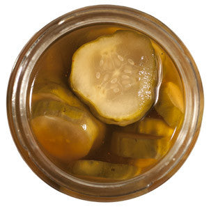 Unbound bacon-flavored pickles