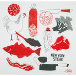 Meat + Veggies Tea Towel