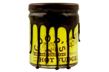 Vegan Hot Fudge Sauce made by COOPs MicroCreameryMOUTH