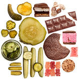 monthly subscription of pickles and chocolate