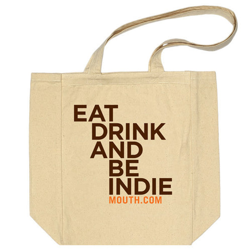 Tall Tote - Eat Drink And Be Indie
