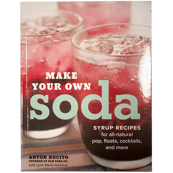 Maybe you got a soda stream as a holiday gift, or you buy seltzer by the case, or you're just fed up with sweet, chemical-y soda. If any of this applies, you have got to get this book. Your drinking options are about to get way more awesome. We've already been stocking our bars with Anton Nocito's delicious P&H Soda Syrups so we can whip up a cream soda or a salty dog (grapefruit syrup!) at any moment. Now, we're learning how to make our own, with Anton's new book, Make Your Own Soda: Syrup Recipes for All-Natural Pop, Floats, Cocktails, and More. Who wouldn't want a fridge stocked with seasonal syrups in fresh-from-the-farm flavors like blueberry or pear. Ever wanted to make your own grenadine or orgeat syrup for tiki drinks like mai tais?