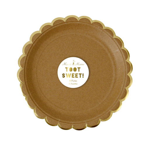 Kraft Paper Cocktail Plates