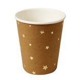 Kraft Paper Cups with Gold Stars