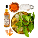 mint julep cocktail ingredients in a bag