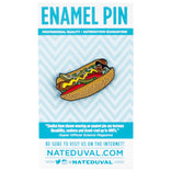 Enamel Chicago-Style Hot Dog Pin