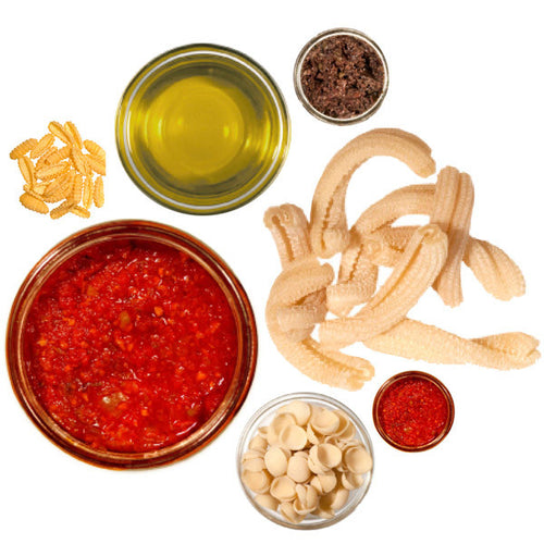 pasta, sauces and oil