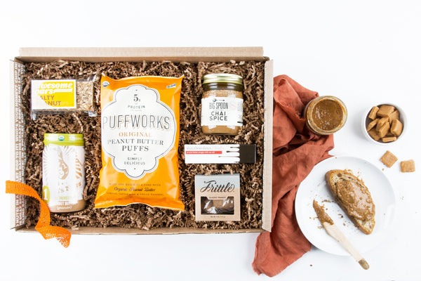 The Peanut Butter Fix gift box from mouth.com.