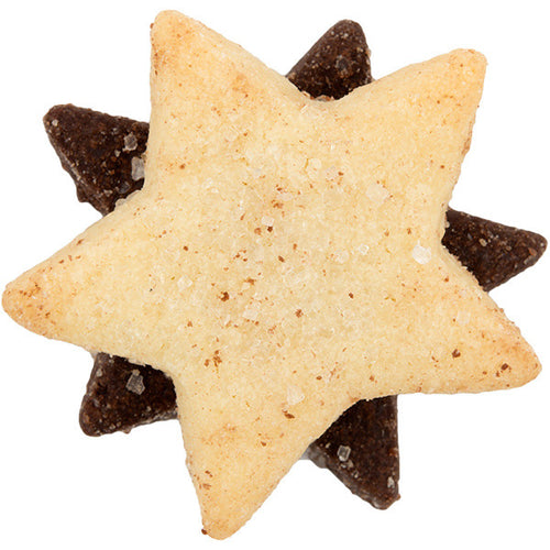 Chocolate & Vanilla Star Cookies