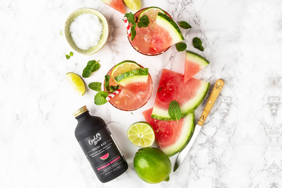 Watermelon Margarita Tea-Infused Cocktail Mixer by Owl's Brew
