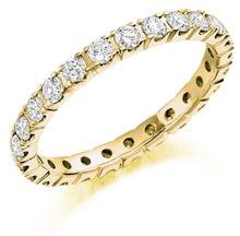Load image into Gallery viewer, 18K Yellow Gold Round Cut 1.00 CTW Diamond Full Eternity Ring - Pobjoy Diamonds