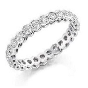 18K White Gold 1.5 Carat Diamond Full Eternity Ring