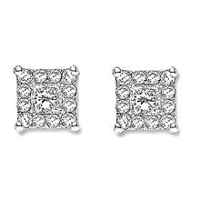 Load image into Gallery viewer, 18K White Gold 0.25 CTW Diamond Stud Earrings G-H/Si