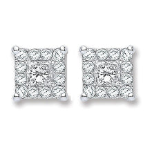 Load image into Gallery viewer, 18K White Gold 0.25 CTW Diamond Stud Earrings By Pobjoy, Surrey