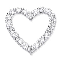 Load image into Gallery viewer, Pobjoy 18K White Gold 1.00 CTW Diamond Heart Pendant