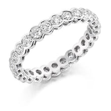 Load image into Gallery viewer, 18K White Gold 1.5 Carat Diamond Full Eternity Ring - Pobjoy Diamonds