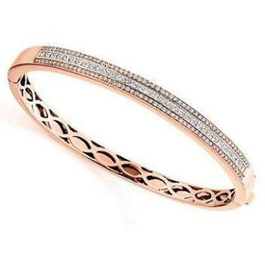 18K Rose Gold Ladies 2.10 CTW Diamond Bracelet