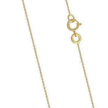 This 18K yellow gold ladies belcher chain is ideal for showcasing high quality pendants and charms.