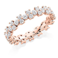 Load image into Gallery viewer, 18K Rose Gold 1.50 CTW Round Cut Diamond Full Eternity Ring - Pobjoy Diamonds
