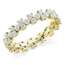 Load image into Gallery viewer, Pobjoy 18K Yellow gold 1.5 CTW brilliant round cut diamond full eternity ring