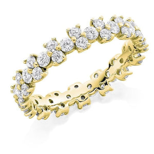 18K Yellow Gold 1.50 CTW Round Cut Diamond Full Eternity Ring - Pobjoy Diamonds