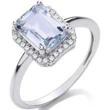 Load image into Gallery viewer, 18K White Gold, Diamond & 2.00 Carat Aquamarine Ring G/Si - Pobjoy Diamonds
