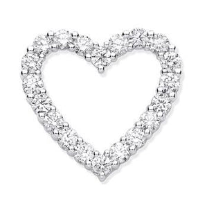 Pobjoy Diamonds Gold 1.00 CTW Diamond Heart Pendant