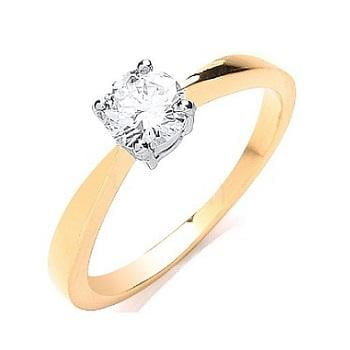 0.50 Carat Round Brilliant Cut Solitaire Diamond Ring From Pobjoy