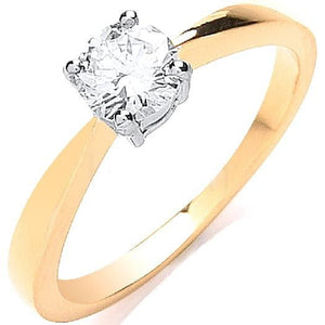 18K Yellow Gold 0.50 Carat Solitaire Ring - Pobjoy Diamonds