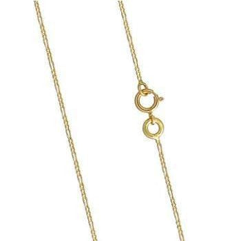 18K Yellow Gold Figaro Ladies Neck Chain From Pobjoy