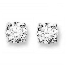 Load image into Gallery viewer, 18K Gold 1.00 Carat Diamond Round Brilliant Cut Stud Earrings G-H/Si