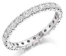 Load image into Gallery viewer, 950 Platinum Full Eternity 1.00 CTW Round Cut Diamond Ring - Pobjoy Diamonds