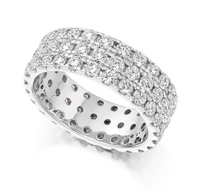 950 Platinum 3.10 CTW Diamond Full Eternity Ring