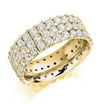 18K 18K Yellow Gold 3.10 CTW Full DIamond Eternity Ring From Pobjoy